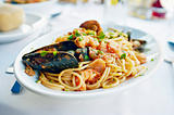 Fresh seafood pasta