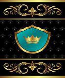 Golden frame with heraldic elements