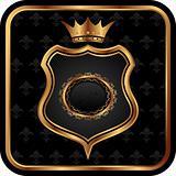 elegant gold heraldry frame