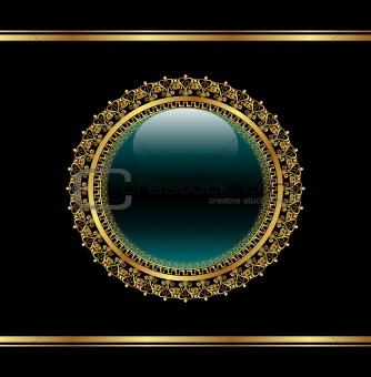 golden floral medallion for packing