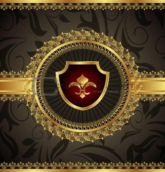 vintage with heraldic elements