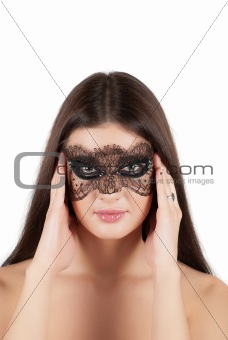 girl at mask