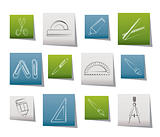 school and office tools icons