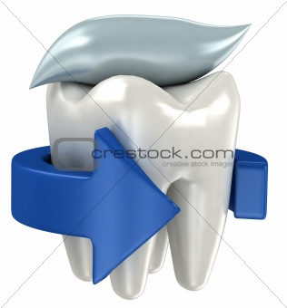 3d teeth isolated