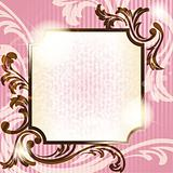 Romantic French retro background with transparencies