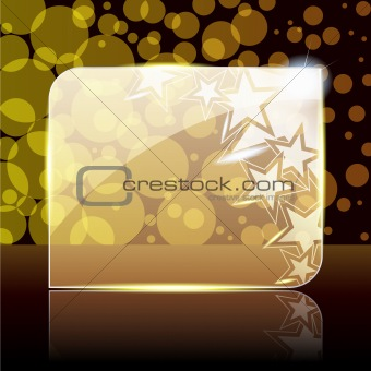 Festive gold glass banner