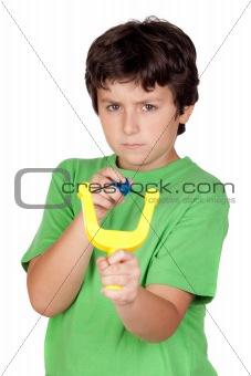 Bad boy with a slingshot