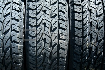 Car tires background