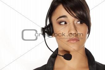 Beautiful receptionist