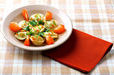 pelmeni on plate