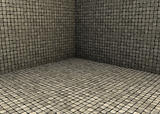 3d render beige tiled mosaic stone empty space
