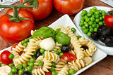 Pasta salad with mozzarella