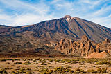 Landscape in front of el teide