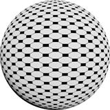 Round half tone images - round black white pattern design