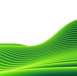 3d render of a green tube sloping landscape