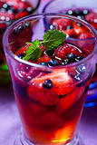 Berry jelly in a glass