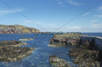 harbour entrance at St. Abbs, Berwickshire