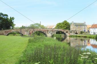 old bridge over river Tyne in Haddington