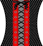 red-black coquettish lace