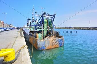 fish boat  in Howth Ireland