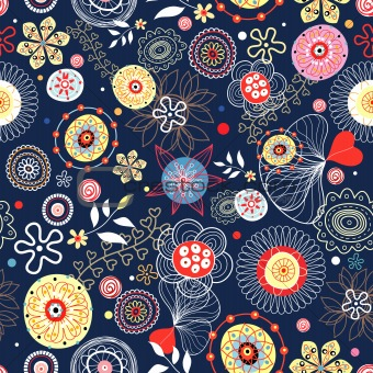 abstract floral bright patterns