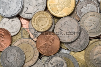 Coins, background