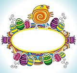 Holiday Easter Frame with white space for your text: