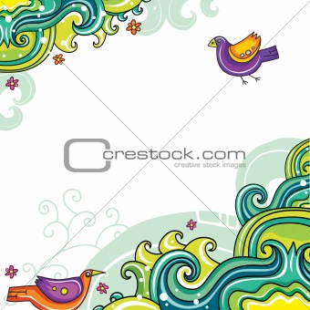 Abstract floral card 18 (series)