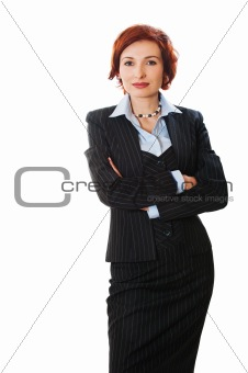 Attractive businesswoman with her arms crossed