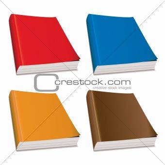 Blank paperback magazine