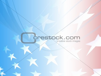Abstract Design of Stars and Stripes