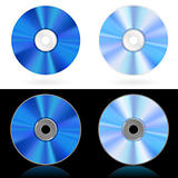 Four realistic CD and DVD