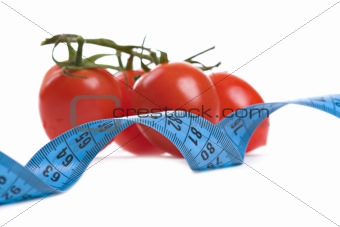 Tomatoes and  measure tape