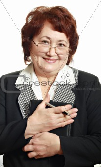 Mature woman in business suit