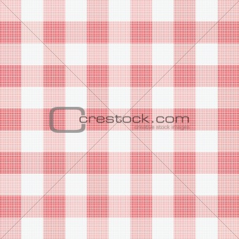 vector illustration of red picnic cloth 