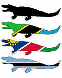 Nile crocodile flags