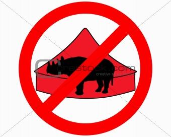 Black rhino in circus prohibited