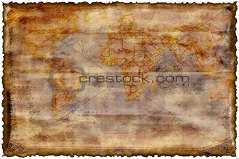 Old burned map