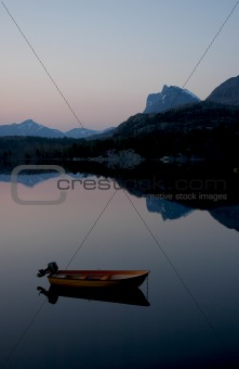 Boat Reflection at Dusk II