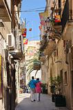Sicily - Ortigia - people strolling on a street