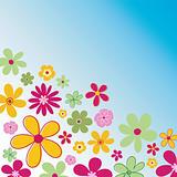 Retro flowers