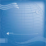 Technical blueprint background