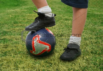 Close up of a soccer player