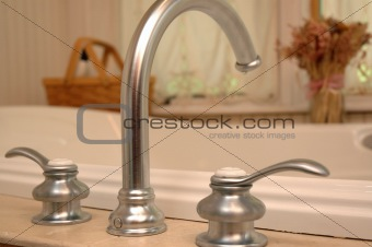 Bathroom taps.