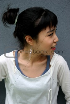 Attractive young Korean woman