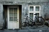 Old House and old bike.