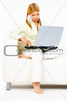 Beauty with laptop