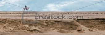Traveler in sands