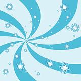 Snowy swirl