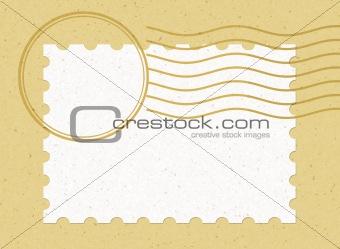 single blank stamp Horizontal